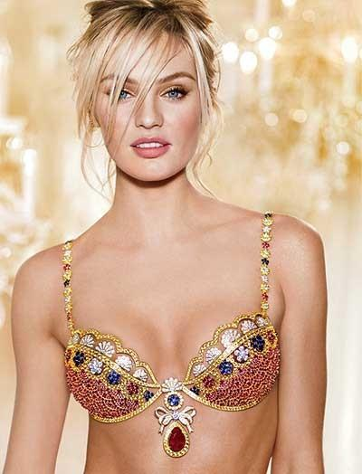 Candice Swanepoel at Wear Fantasy Bra 2013