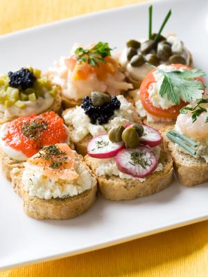 Forslag til canapes opskrift del det for Canape bases ideas