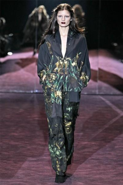 Gucci Vælger Sort for Milan Fashion Week 2012